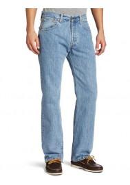 Levi's 501 Original Button Fly Light Stonewashed Bleu Clair Jeans 501-0134 Hommes