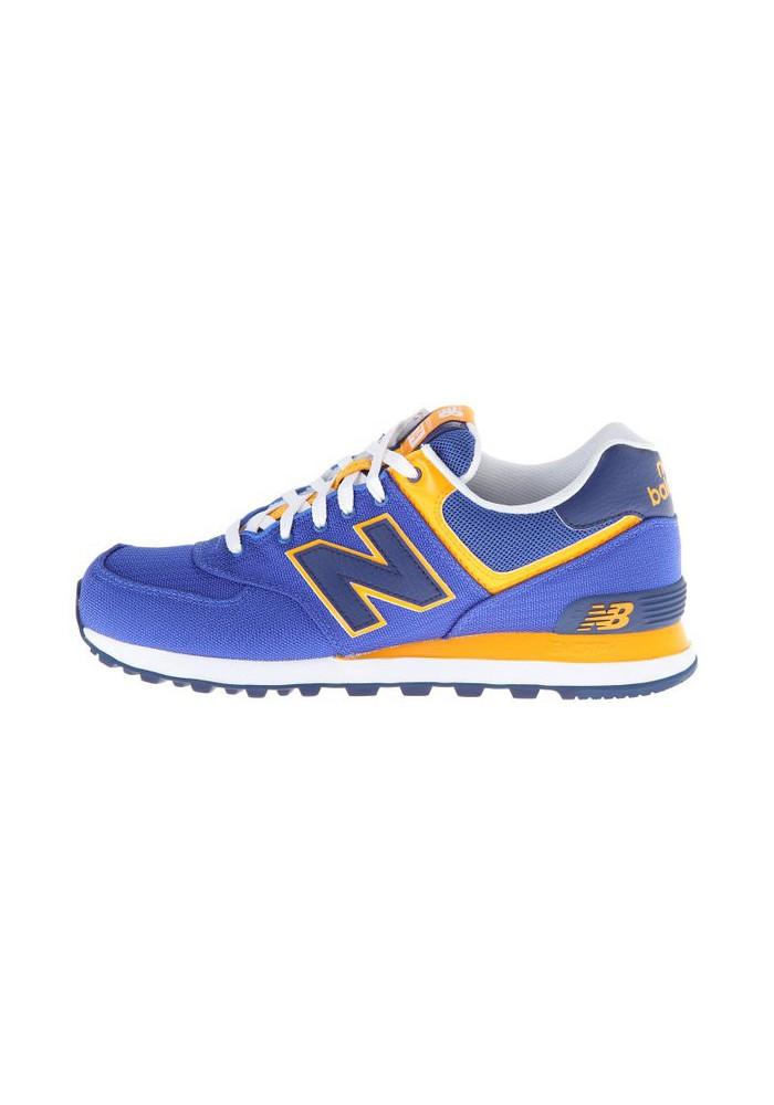 acheter populaire 92ec0 227d5 Sneakers New Balance ML574 Passport Pack (Couleur : Blue/Yellow) Homme